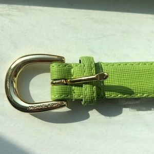Green Michael Kors belt